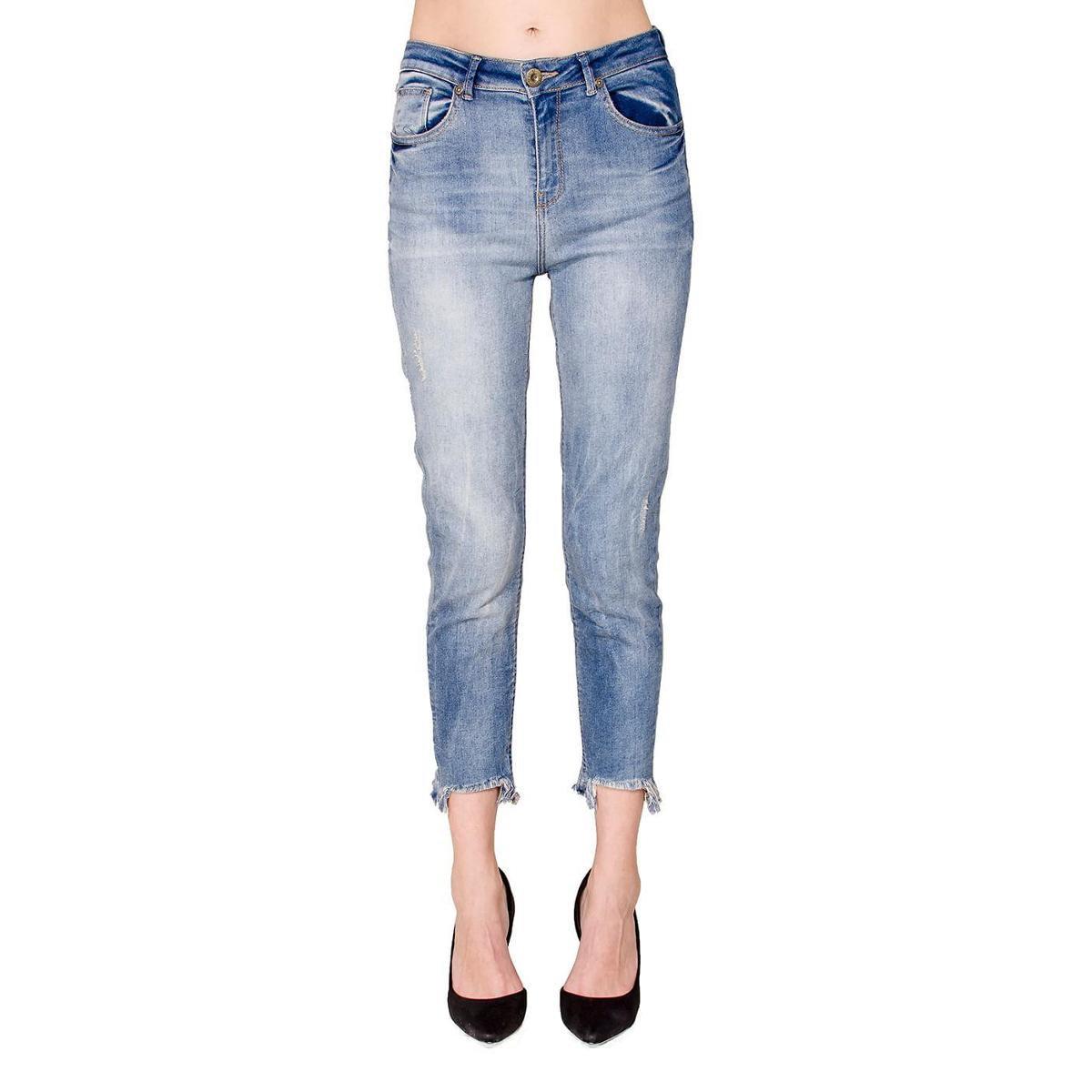 Calça Jeans Barra Assimétrica Alphorria - Azul jjOzn8l8