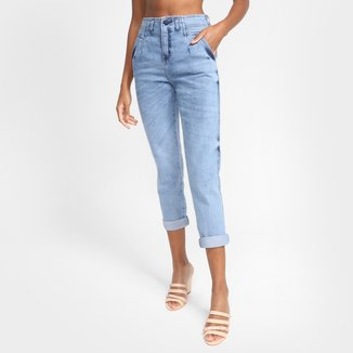 Calça Jeans Biotipo Mom Cintura Alta Feminina