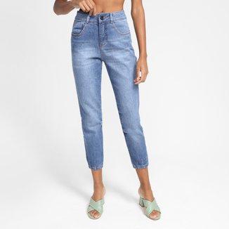 Calça Jeans Biotipo Mom Estonada Feminina