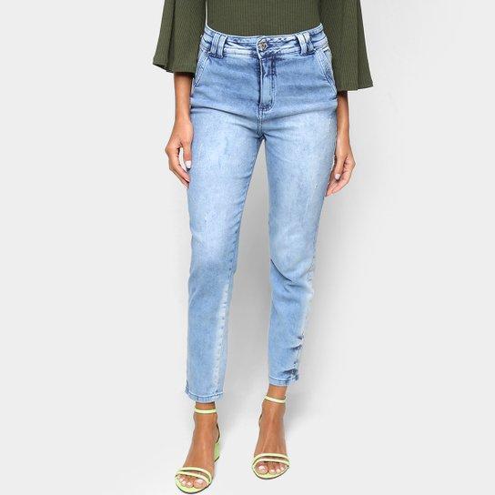 Calça Jeans Biotipo Mom Midi Feminina - Azul