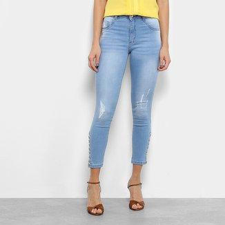 Calça Jeans Biotipo Skinny Amarração Feminina