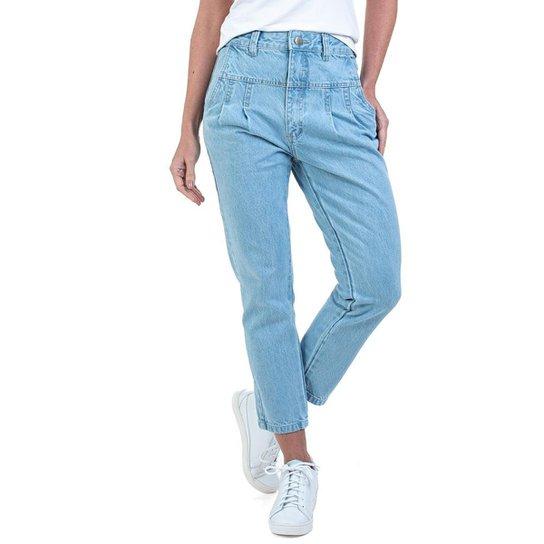 Calça Jeans Bloom Mom Feminino - Azul Claro