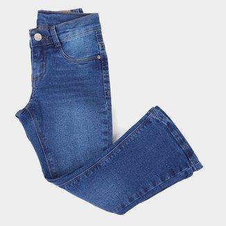 Calça Jeans Boot Cut Infantil Hering Feminina