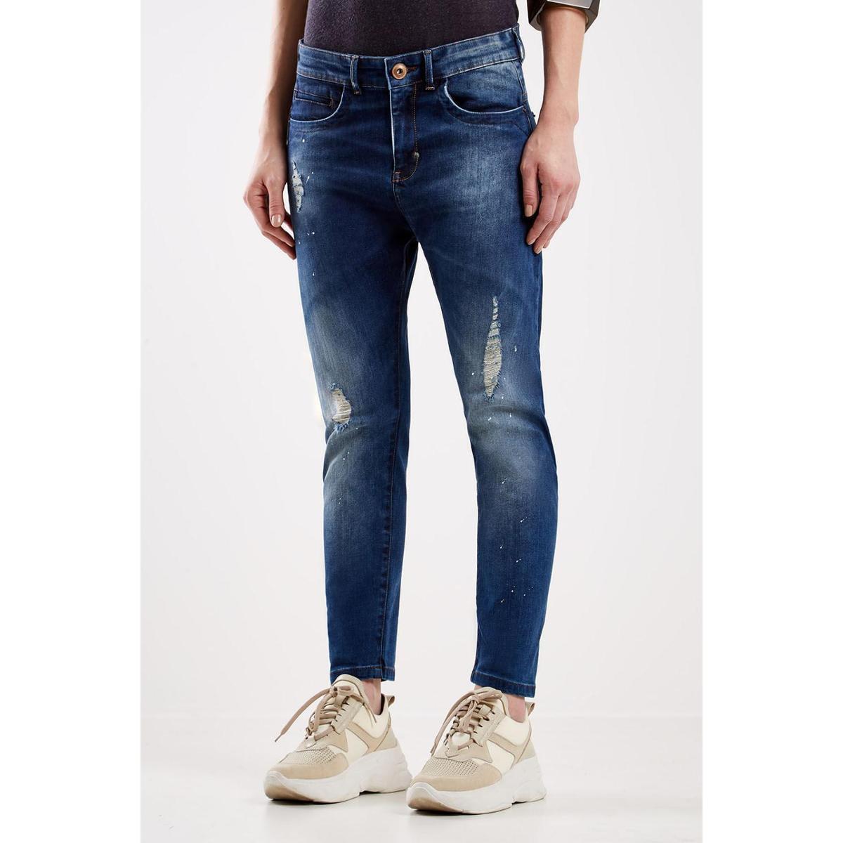 Calça Jeans Boy Dark Sacada Feminina - Azul