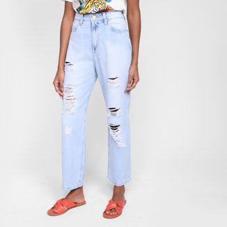 Calça Jeans Boyfriend Al Is Love Denin Bradley Cintura Alta Feminina