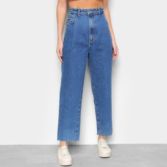 Calça Jeans Boyfriend Farm Cintura Alta Feminina