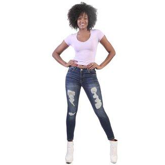 Calça Jeans  Boyfriend    Feminina