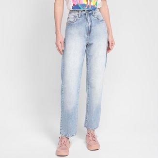 Calça Jeans Calvin Klein Estonada Cintura Alta Feminina