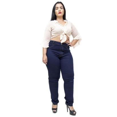 Calça Jeans Cambos Plus Size Skinny Sonarai Feminina-Feminino