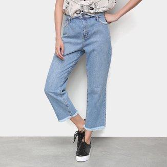 Calça Jeans Cantão B Boy Cós Virado Feminina