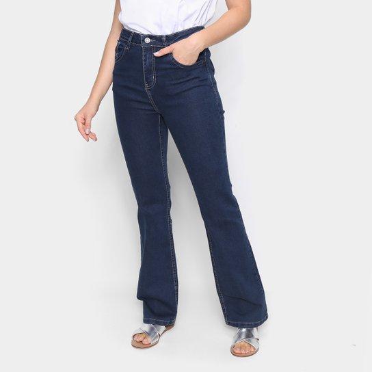 Calça Jeans Cantão Flare Feminina - Azul