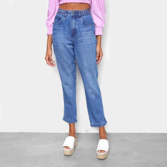 Calça Jeans Cantão Mom Vintage Feminina - Azul
