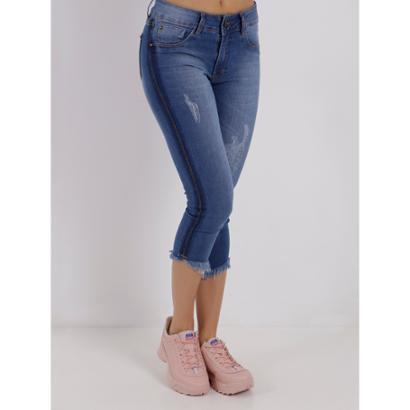 Calça Jeans Capri Amuage Feminina-Feminino