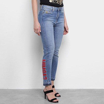 Calça Jeans Carmim Estampa Feminina
