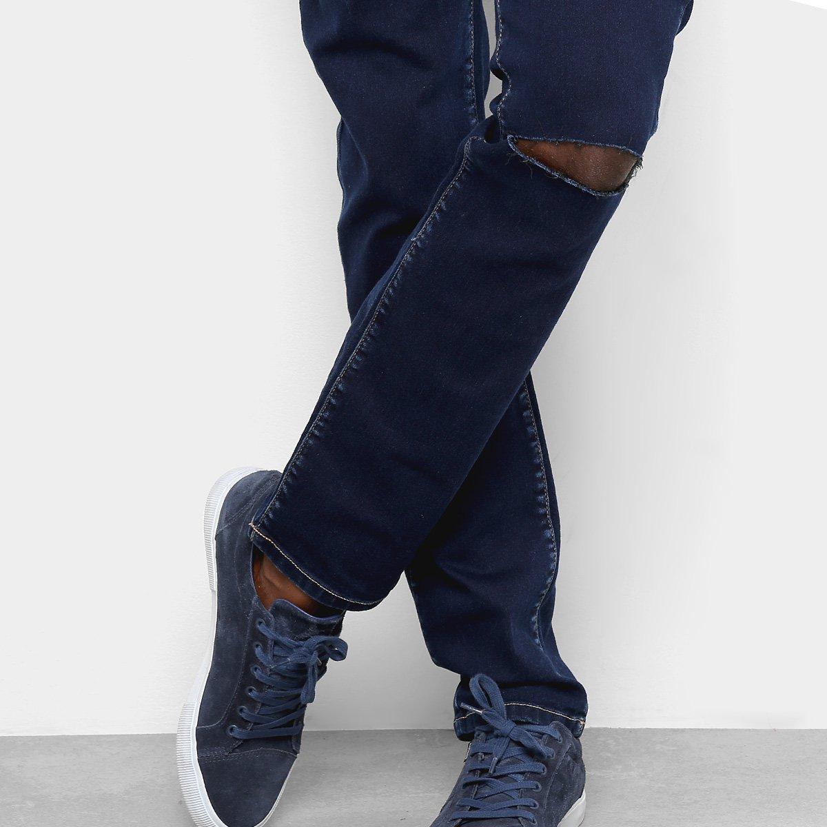 Calça Jeans Cavalera Amaro Skinny Masculina - Azul