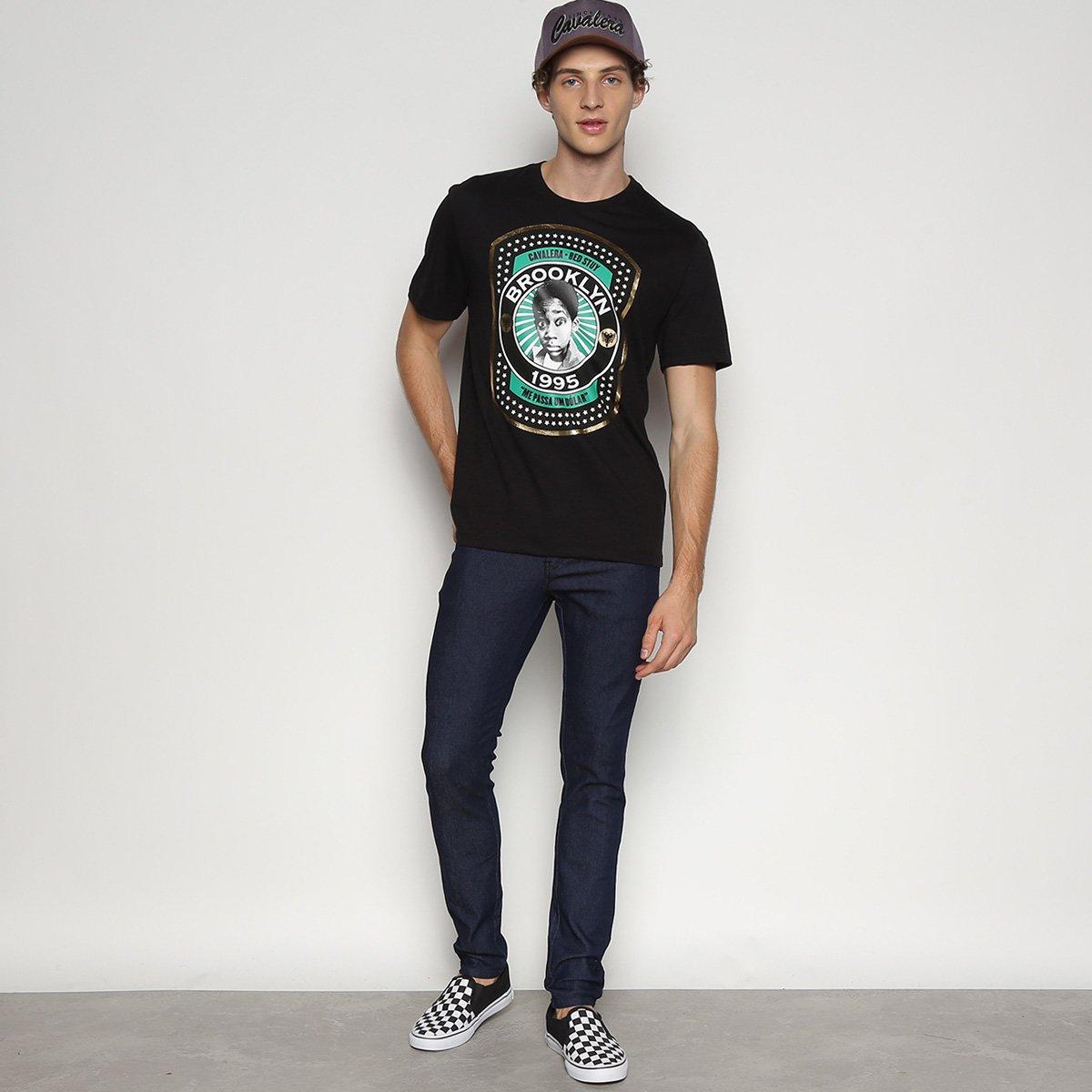 Calça Jeans Cavalera Eddie Super Skinny Masculina - Azul