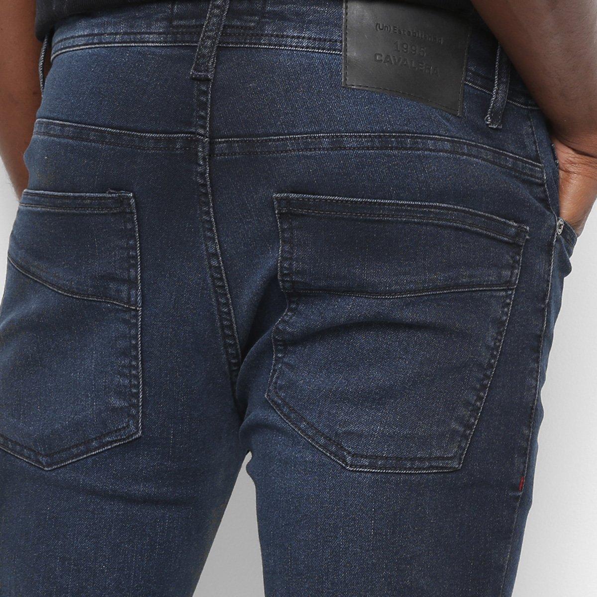 Calça Jeans Cavalera Jamie Super Skinny Masculina - Azul
