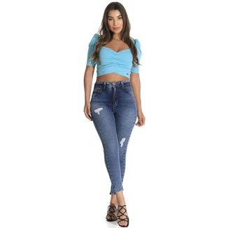 Calça jeans  cigarrete 360 Sawary feminina