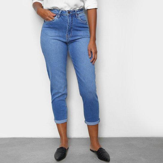 Calça Jeans Cigarrete Calvin Klein Cintura Alta Feminina - Azul
