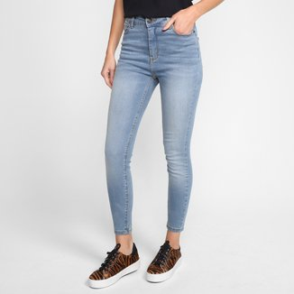Calça Jeans Cigarrete Hering Cintura Alta Feminina