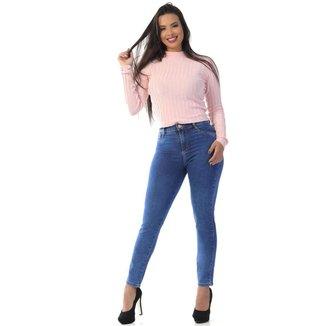 Calça jeans cigarrete Sawary feminina