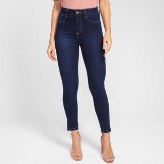 Calça Jeans Cigarrete Sawary Levanta Bumbum Cintura Alta Feminina