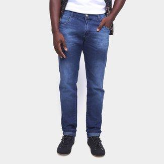 Calça Jeans Coffee Estonada Skinny Masculina