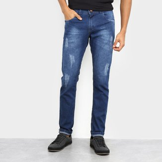 Calça Jeans Coffee Puídos Masculina