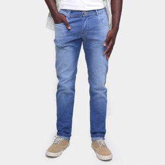 Calça Jeans Coffee Skinny Estonada Masculina