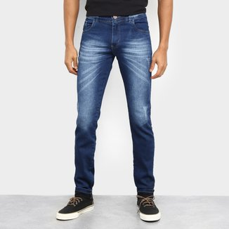 Calça Jeans Coffee Slim Estonada Masculina