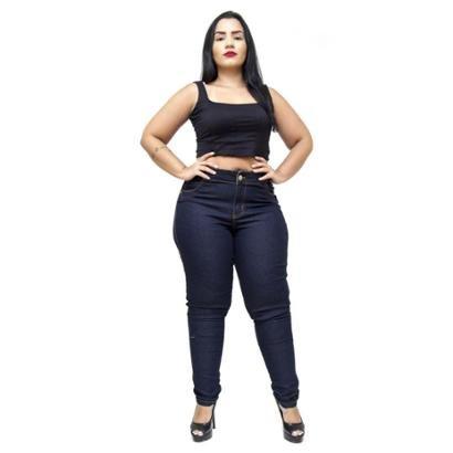 Calça Jeans Credencial Plus Size Skinny Claudeci Feminina-Feminino