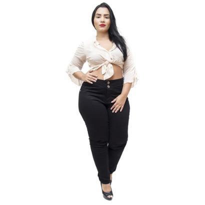 Calça Jeans Credencial Plus Size Skinny Danelise Feminina-Feminino