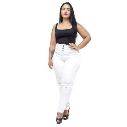 Calça Jeans Credencial Plus Size Skinny Tycillia Feminina-Feminino