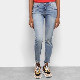 Calça Jeans Cropped Colcci Destroyed Feminina