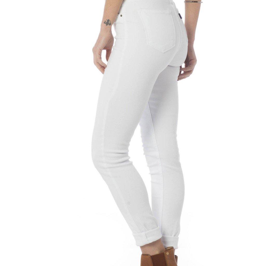 Calça Jeans Denim Zero Colorida Skinny Média Feminina - Branco ... e8c79a419dd