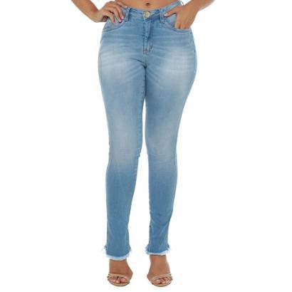 Calça Jeans Denuncia Mid Rise Skinny Feminina-Feminino