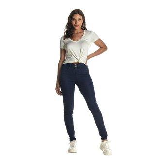Calça Jeans Denuncia Mid Rise Skinny Z 201324303 Azul - Azul - 46