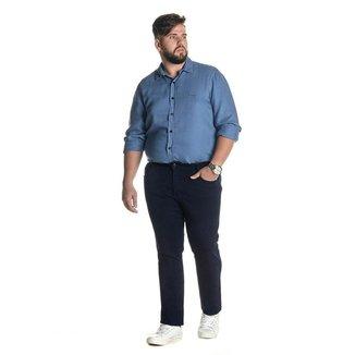 Calça Jeans Denuncia Slim Z 101324234 Azul - Azul - 60