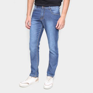 Calça Jeans Ecxo Básica Cintura Média Masculina