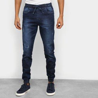 Calça Jeans Ecxo Jogger Masculina