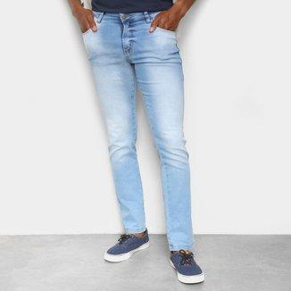 Calça Jeans Ecxo Lavagem Clara Slim Masculina
