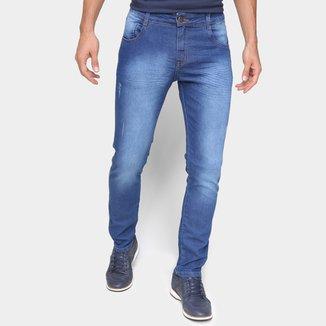 Calça Jeans Ecxo Lavagem Escura Masculina