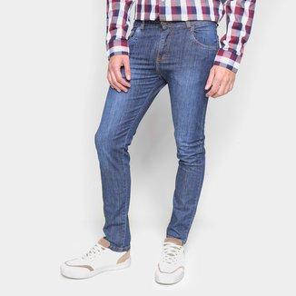 Calça Jeans Ecxo Lavagem Escura Tradicional Masculina