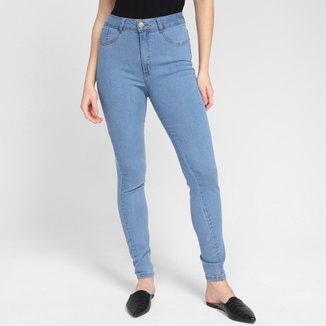 Calça Jeans Ecxo Skinny Basic Cintura Alta Feminina