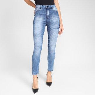 Calça Jeans Ecxo Skinny Bleach Feminina