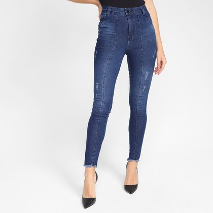 Calça Jeans Ecxo Skinny Bolso Faca Feminina