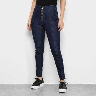 Calça Jeans Ecxo Skinny Cintura Alta Feminina