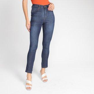 Calça Jeans Ecxo Skinny Escura Feminina