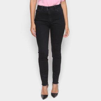 Calça Jeans Ellus Skinny Barra Desfiada Feminina