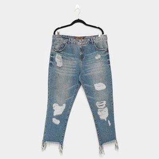 Calça Jeans Enfim Destroyed Feminina